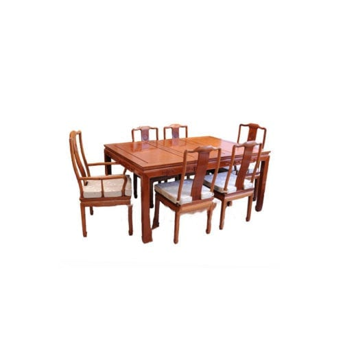 Rosewood Furniture Dining Set Brown Tahwa En