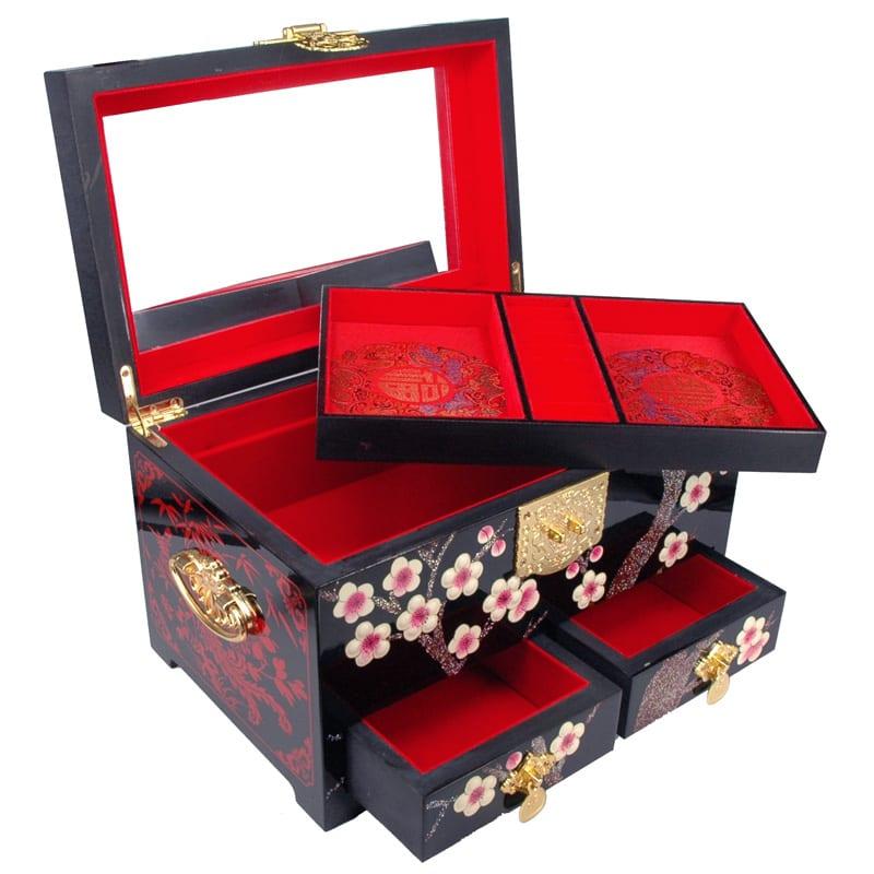 Chinees Juwelenkistje Blossom XL detail