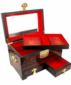 Chinees Juwelenkistje Red Lady XL Detail