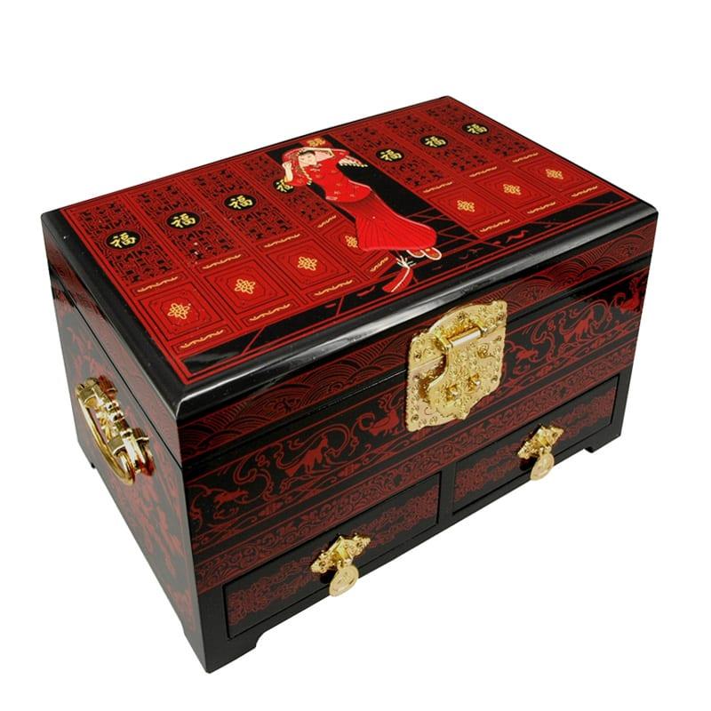 Chinees Juwelenkistje Red Lady XL