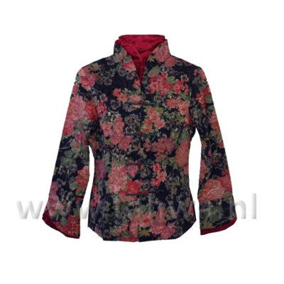 Chinese Jacket Blossom Black