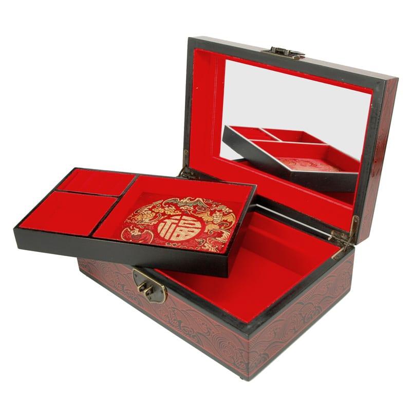 Chinese Juwelendoos Rose Detail