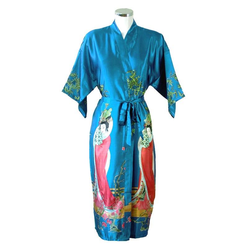 Chinese Kimono Geisha Turquoise