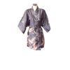 Chinese Kimono Kraanvogel Grijs Kort
