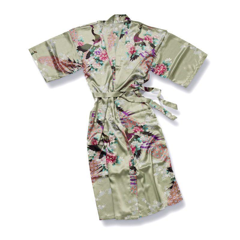 Groene Kimono Pauw