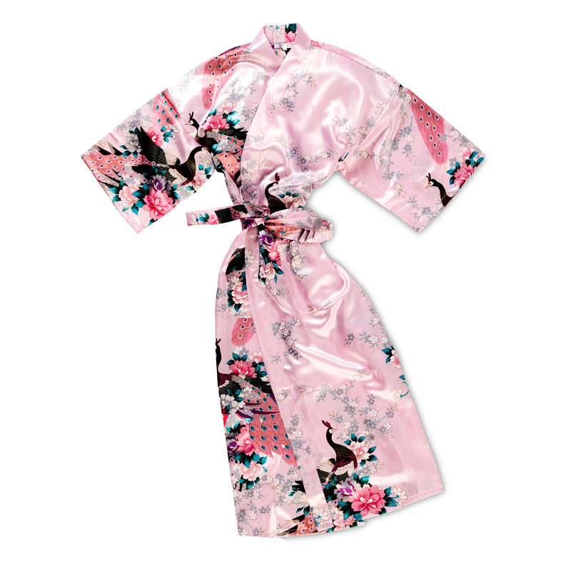 Roze Kimono Pauw