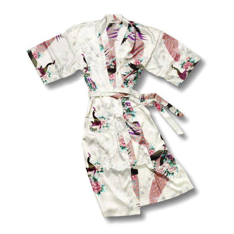 Witte Kimono Pauw