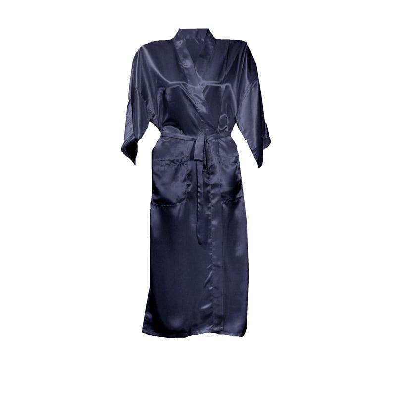 Effen kimono blauw