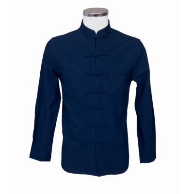 Chinees heren hemd blauw