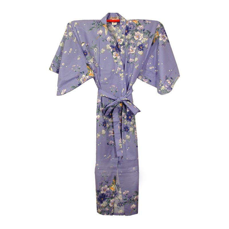 Japanse-Yukata-Kimono-Lang-Flowers-Purple