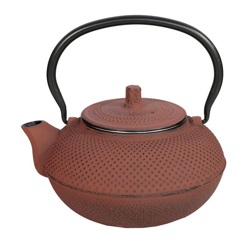 Japanse gietijzeren theepot rood XL