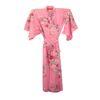 Japanse kimono yukata roze met bloemen