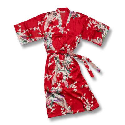 Kimono Pauw Kort Rood