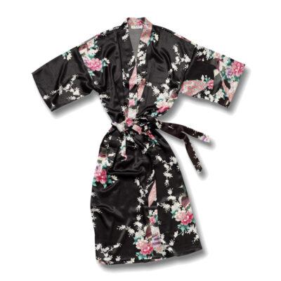Kimono Pauw Kort Zwart