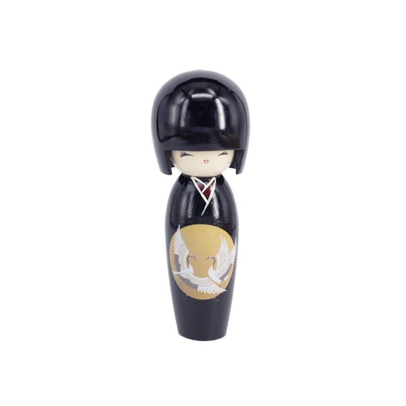 Kokeshi Doll zwart