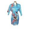 Korte Kimono Pauw Lightblue