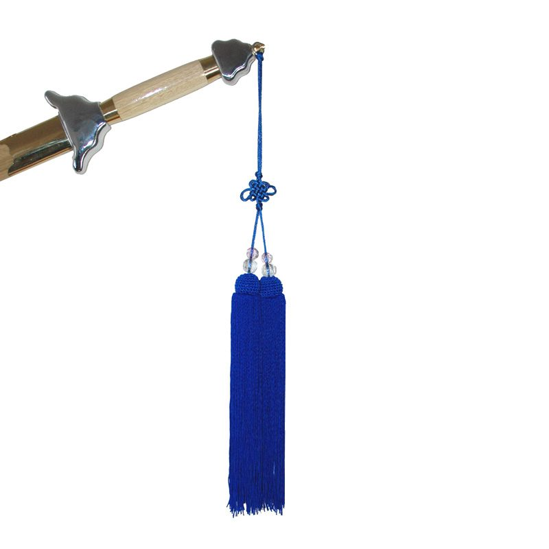 Kwast voor Tai-Chi Zwaard Blauw