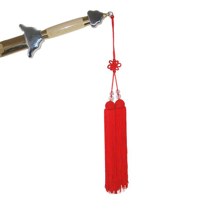 Kwast voor Tai-Chi Zwaard Rood