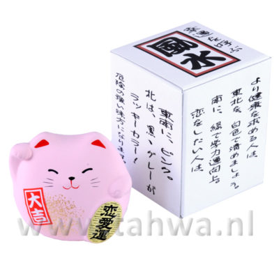 Lucky Cat Medium Roze