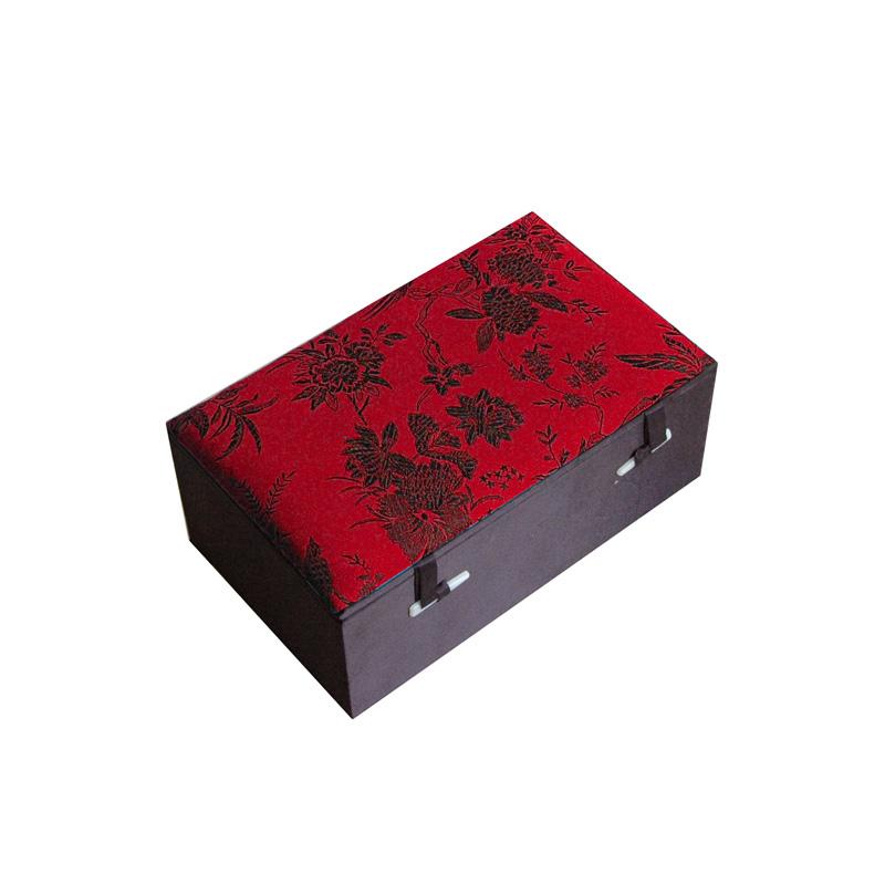 Mah-jong S in zijden doos rood A