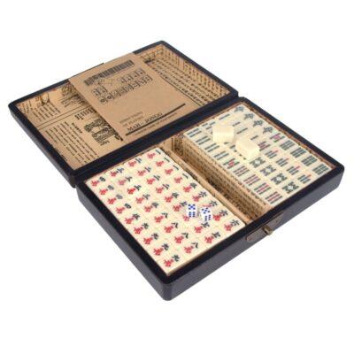 Mahjong in houten koffer XS B