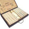 Mahjong in zwarte houten koffer M B