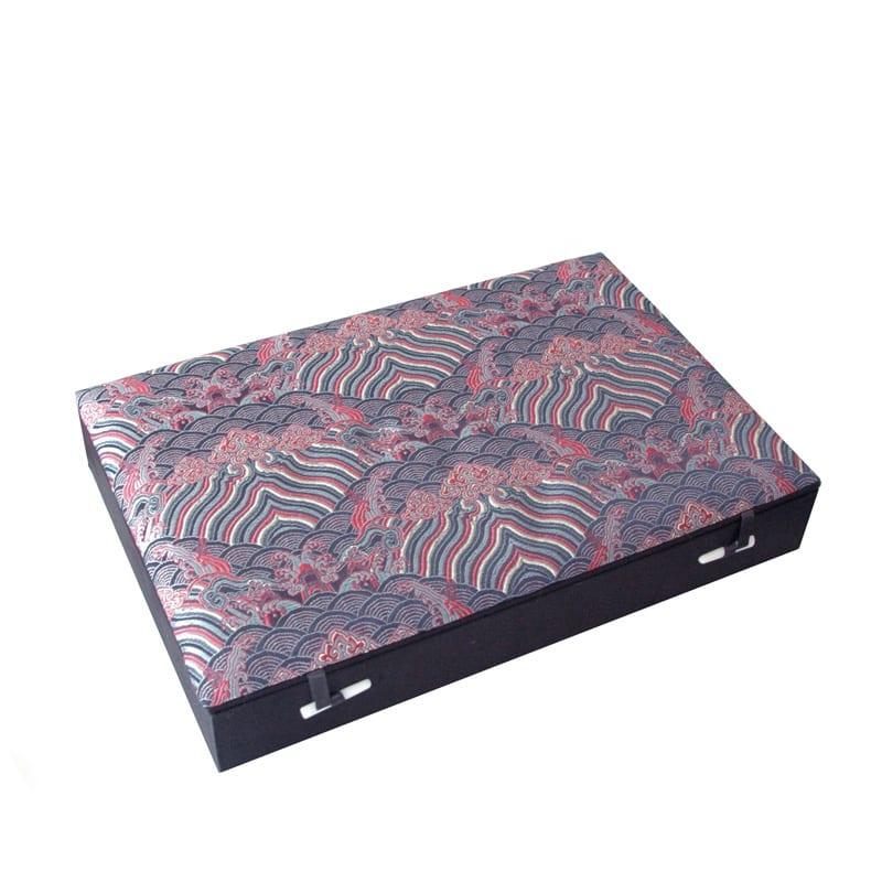 Mahjong zijden doos zwart wave M A