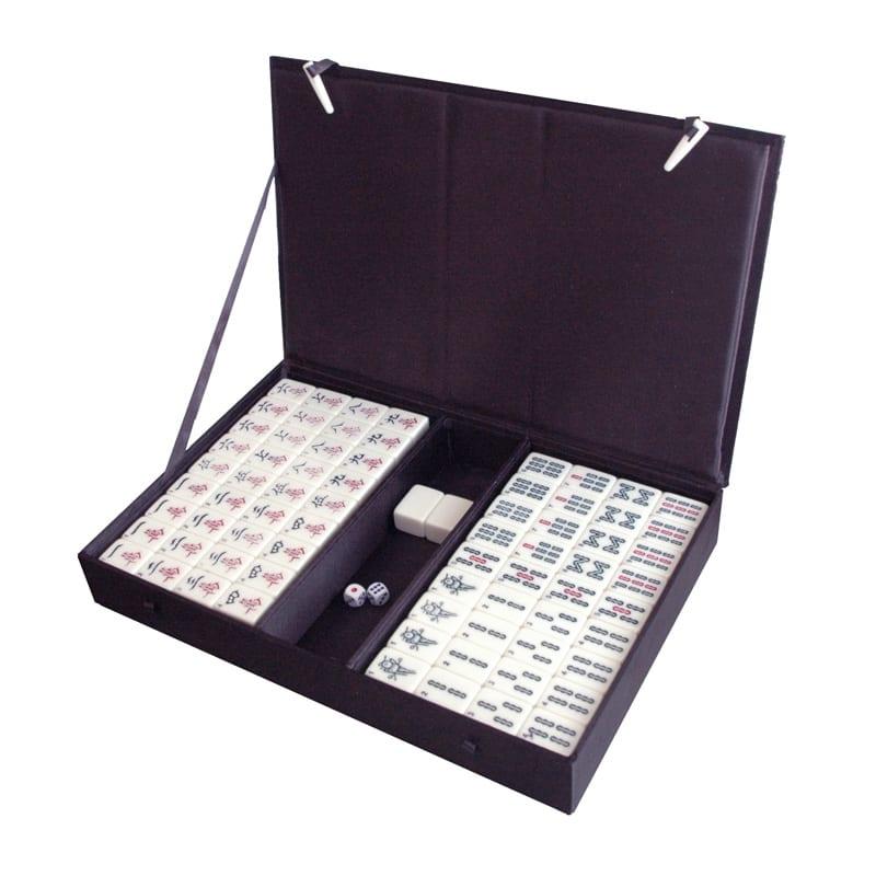 Mahjong zijden doos zwart wave M B