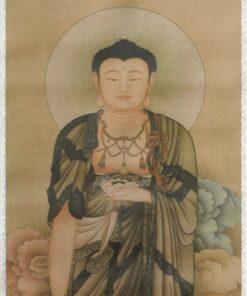 Scroll Print Boeddha detail