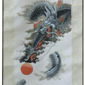 Scroll Print Dragon detail