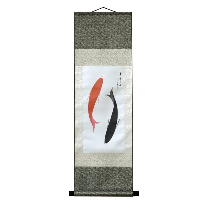 Scroll Print Yin Yang Fish