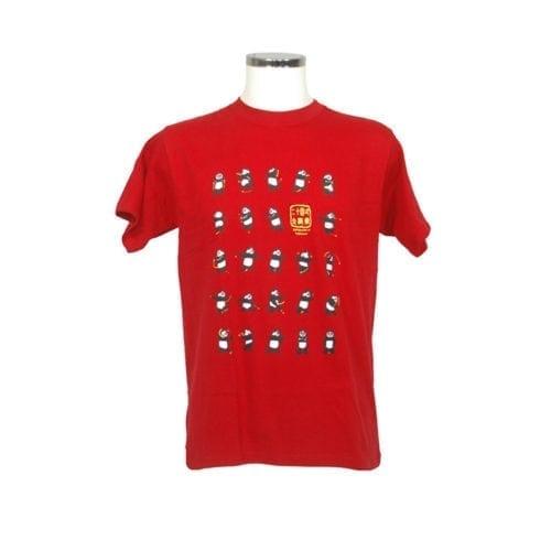 T-shirt taichi panda red
