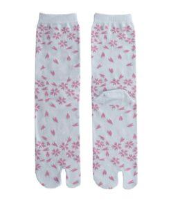 Tabi sokken blauw blossom detail
