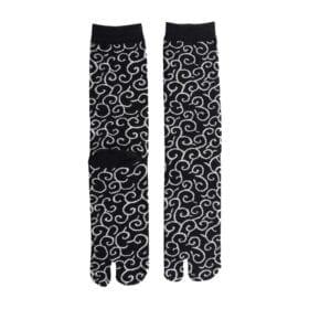 Tabi sokken heren zwart arabesque detail