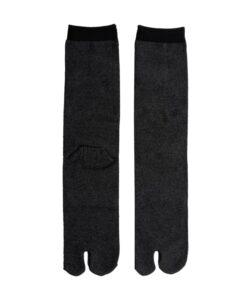 Tabi sokken heren zwart detail