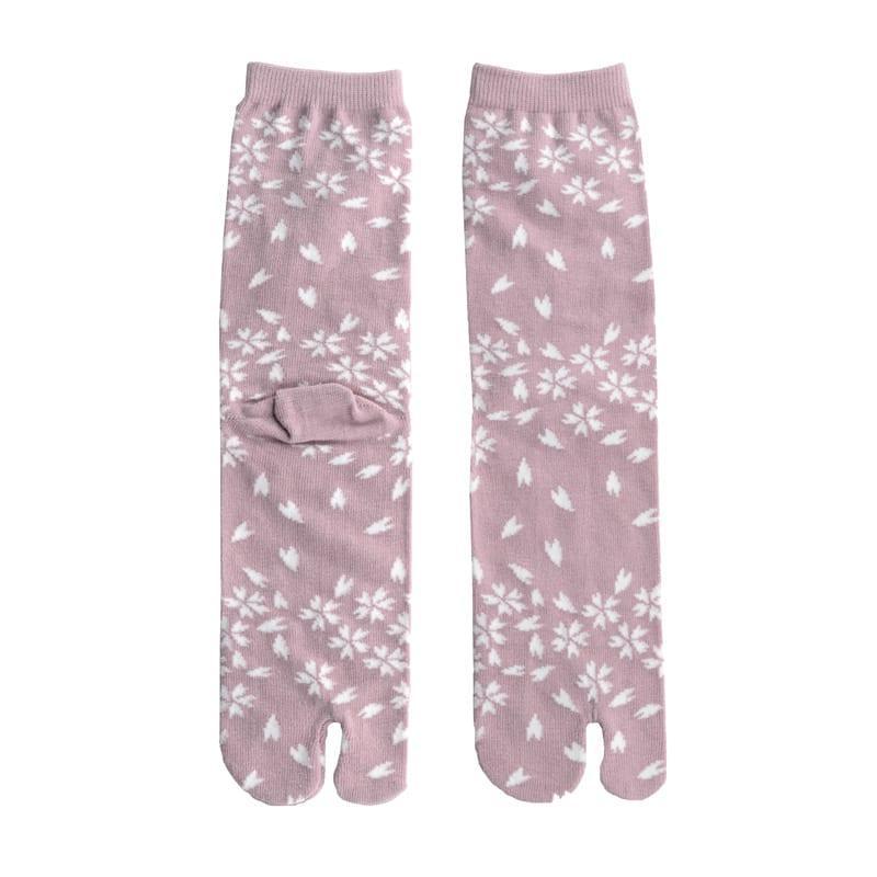 Tabi sokken roze blossom detail