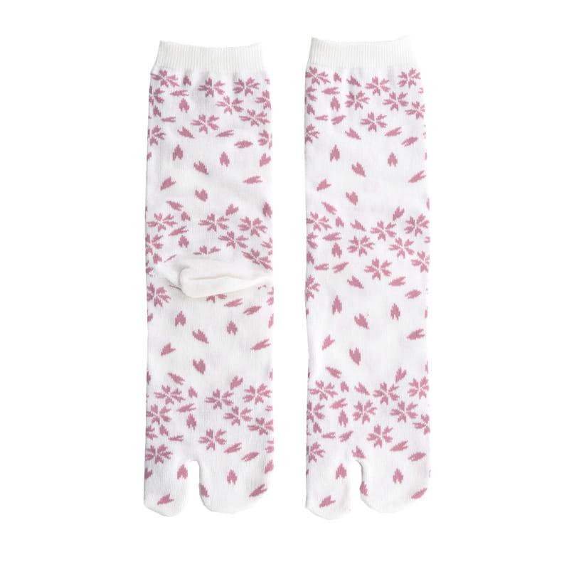 Tabi sokken wit blossom detail