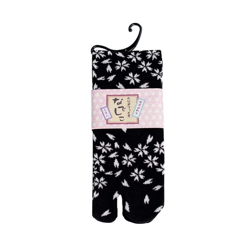 Tabi sokken zwart blossom