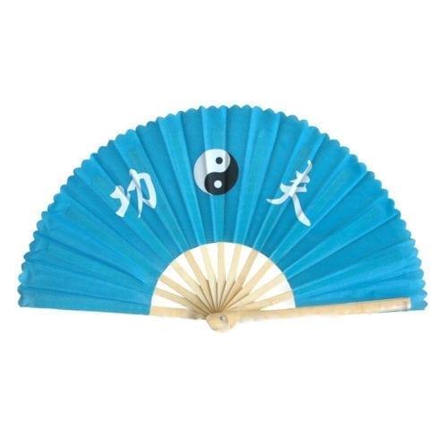 Taichi waaier blauw yinyang