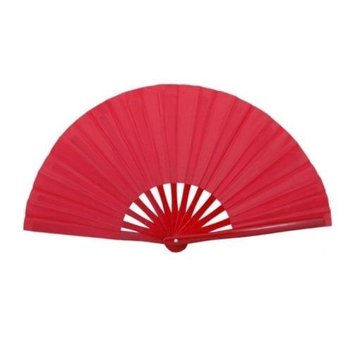 Taichi waaier rood effen