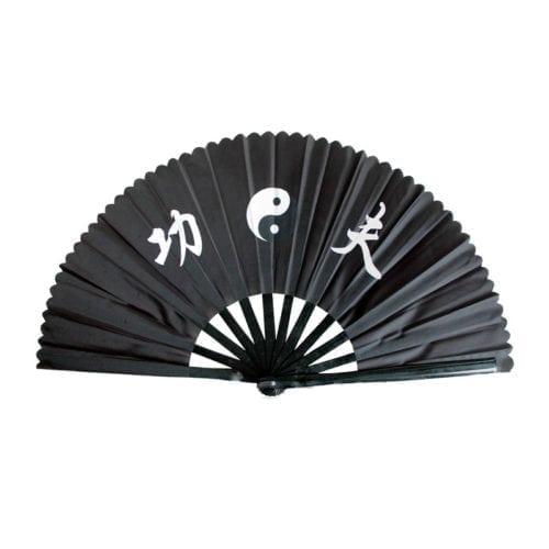 Taichi waaier zwart yinyang
