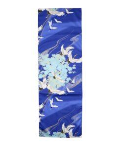 Tenugui Crane Blue 2
