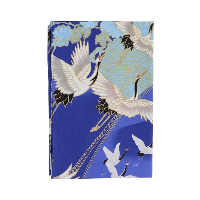 Tenugui Crane Blue
