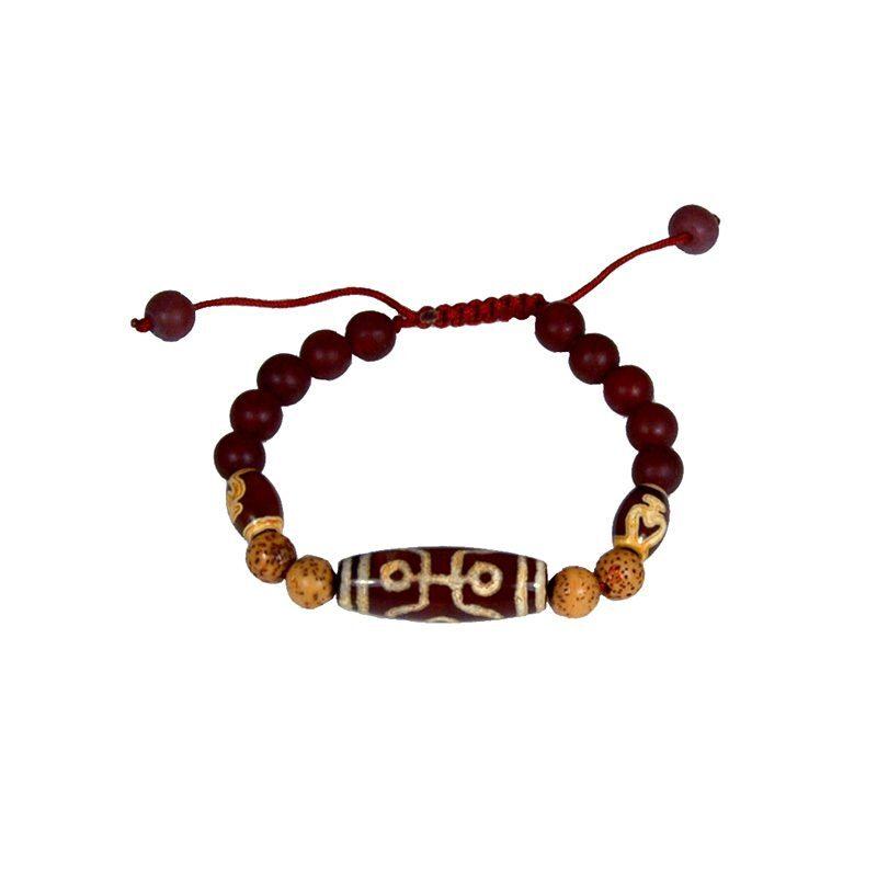 Tibetaanse Mala Armband Bruin