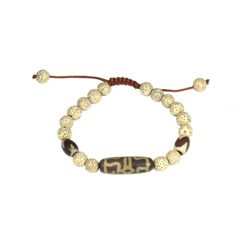 Tibetaanse Mala Armband Wit