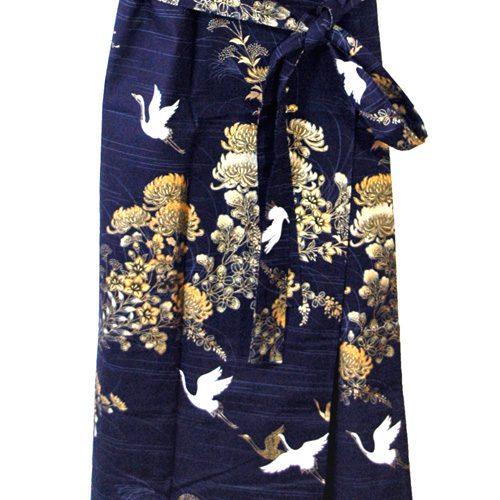 Yukata Crane Blue detail